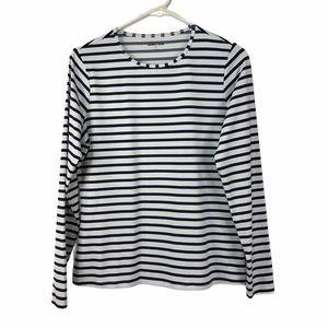 Lands End Navy Lightweight Stretchy Knit T-shirt
